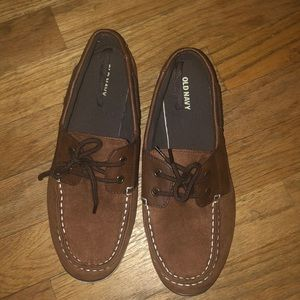 Lil boys brown loafers